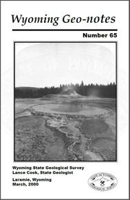 Wyoming Geo-Notes—Number 65 (2000)