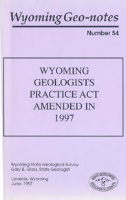 Wyoming Geo-Notes—Number 54 (1997)
