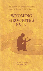 Wyoming Geo-Notes—Number 8 (1985)