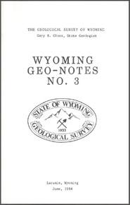 Wyoming Geo-Notes—Number 3 (1984)