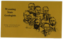 Wyoming State Geologists (Postcard 1988)