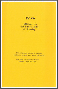 Additions to the Mineral Laws of Wyoming (1976)