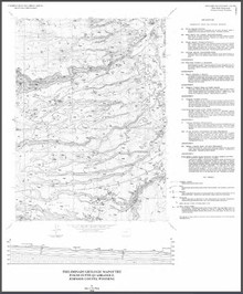 Preliminary Geologic Map of the Poker Butte Quadrangle, Johnson County, Wyoming (1998)