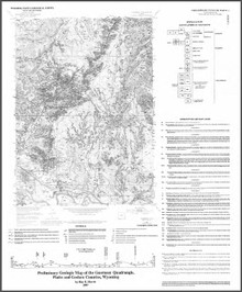 Preliminary Geologic Map of the Guernsey Quadrangle, Platte and Goshen Counties, Wyoming (1997)