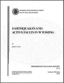 Earthquakes and Active Faults in Wyoming (1997)