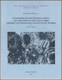 Petrography of Selected Rock Samples and a Discussion of Structural Fabric, Northern Salt River Range, Lincoln County, Wyoming (1978)