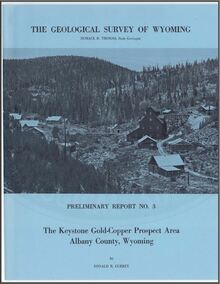 Keystone Gold-Copper Prospect Area, Albany County, Wyoming (1965)