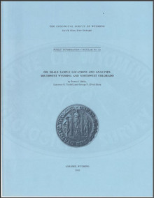 Oil Shale Sample Locations and Analyses, Southwest Wyoming and Northwest Colorado (1983)