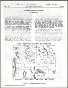 Profiles of Wyoming Coal Mines (1973)