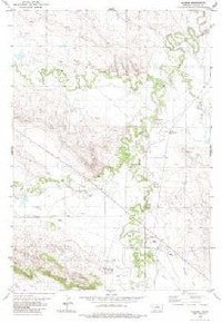 7.5' Topo Map of the Alzada, MT Quadrangle