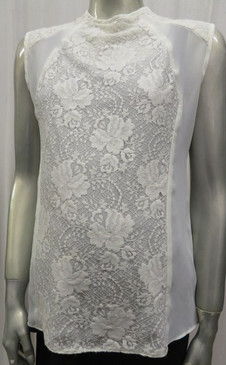 Style # 552B Ivory lace inset top