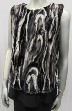 Style # F618 Faux fur vest