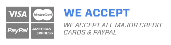 Credit cards accepted including PayPal