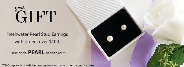 Free Gift Freshwater Pearl Earrings with orders over $100