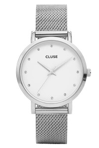 Cluse Pavane Silver Stones Mesh Womens Watch CL18301