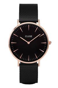 Cluse La Boheme Mesh Rose Gold Black/Black Womens Mesh Watch CL18034