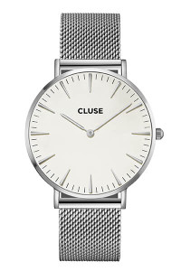 Cluse La Bohème Mesh Silver/White Womens Mesh Watch CL18105