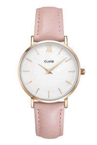 Cluse Minuit Rose Gold White/Pink Watch CL30001