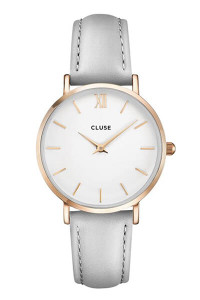 Cluse Minuit Rose Gold White/Grey Womens Watch CL30002