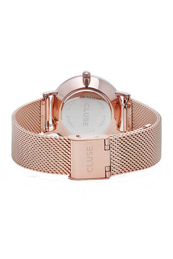 Cluse Minuit Mesh Rose Gold/White CL30013