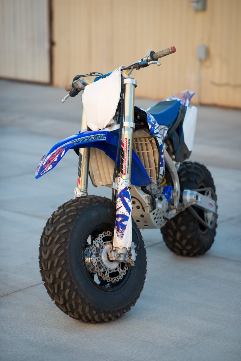 New photos of the YZ450 Big Wheel Kit, the ultimate big wheel conversion kit for your dirt bike ...