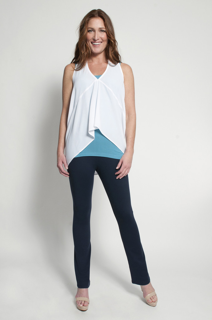 Navy Bootcut (shown with Layering Tank Top in Turquoise & Fancy Tank in White)