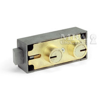 3175 BRASS FINISH SAFE DEPOSIT LOCK (BLUEGRASS LOCKS)