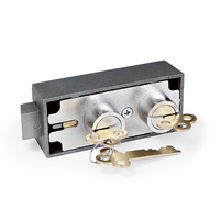 5700 NICKEL FINISH SAFE DEPOSIT LOCK (BLUEGRASS LOCKS)