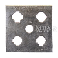 IMPRESSIONING PLATE (CHRYSLER, FORD, AMC, TOYOTA, NISSAN & CAM LOCKS)