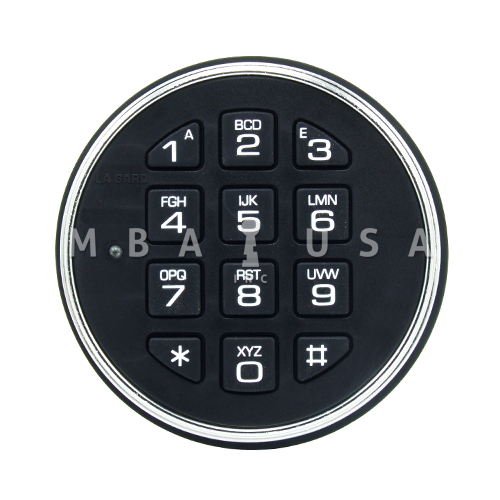 lagard 3000 safegard keypad two battery satin chrome mba usa inc. Black Bedroom Furniture Sets. Home Design Ideas