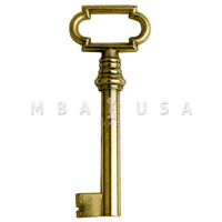 FURNITURE KEY BRIGHT BRASS - 40MM 8x8