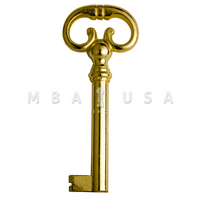 FURNITURE KEY BRIGHT BRASS 40MM 8X8