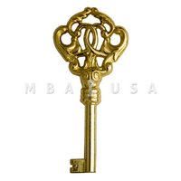 FURNITURE KEY BRASS - 30MM 6X6