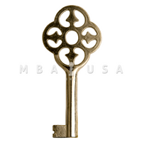 FURNITURE KEY NICKEL 30MM 6X6