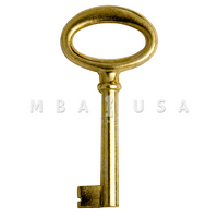 FURNITURE KEY BRIGHT BRASS - 40 MM 8X8