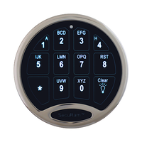 SAFELOGIC BASIC BACKLIT KEYPAD - NICKEL