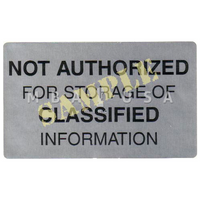 REJECTION LABEL (SOLD IN QTY OF 6)
