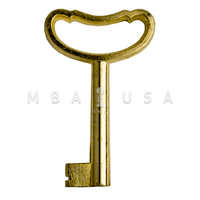 FURNITURE KEY BRIGHT BRASS - 40MM, 8X8