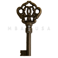 FURNITURE KEY BRONZE, 30MM 6X6