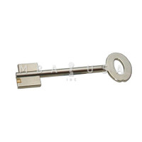 CAWI BRASS NICKEL PLATED DOUBLE BITTED KEY BLANK FOR 9 LEVER LOCK - 94MM