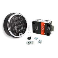 DEADBOLT LOCK & 1 BATTERY KEYPAD CHROME