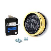 SafeLogic Basic, Top-Lit, Brass Keypad & Swing Bolt Lock