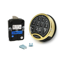 SafeLogic Basic, Back-Lit, Brass Keypad & Swing Bolt Lock