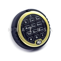 S&G ROTATING KEYPAD ONLY - BRASS RING - BLACK BUTTONS - NOT LIGHTED