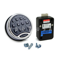 SAFELOGIC BASIC BACKLIT CHROME KEYPAD WITH DEADBOLT LOCK BODY
