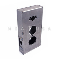 WELDABLE GATE BOX FITS 3 POPULAR LOCKS - KABA ILCO 1000 AND 5000 LINE