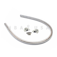 """18"""" ARMORED STAINLESS DOOR LOOP 1/4"""" I.D."""