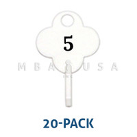 NUMBERED LOANER TAGS #1 - #20, PACK OF 20