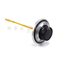 """DIAL & RING, FRONT READING, RUBBER KNOB, SATIN CHROME, 8"""" SPINDLE"""