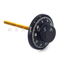 DIAL & RING, FRONT READING, SMALL KNOB, BLACK  & WHITE